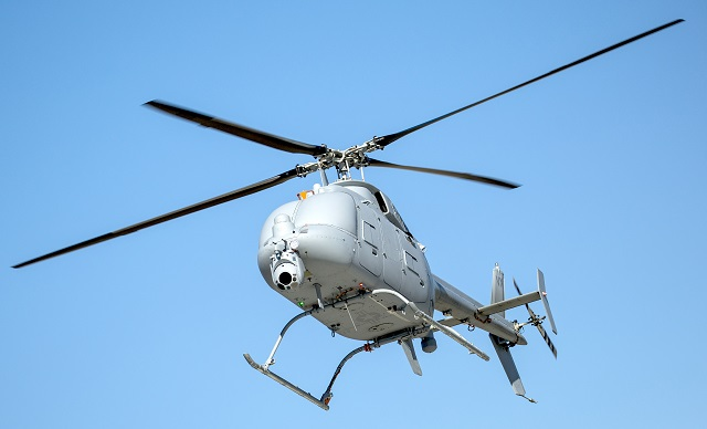 The Navy late last month declared initial operational capability for the MQ-8C Fire Scout unmanned helicopter, the service announced today.